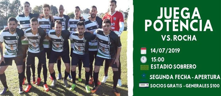 12.07.2019 Este domingo visitaremos a Rocha F.C.