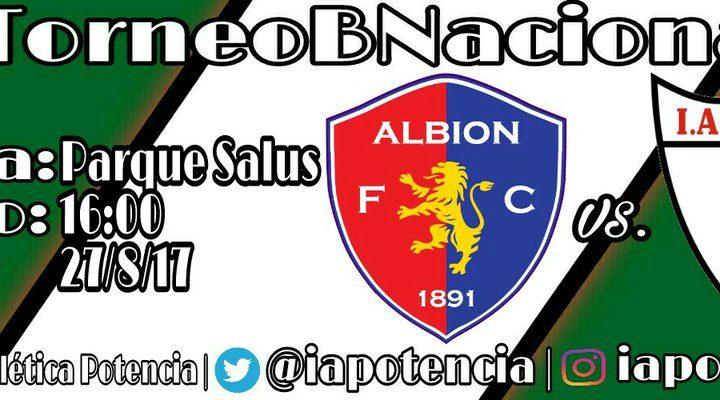 24.08.2017 Este domingo el rival será Albion a las 16:00 horas en el Salus