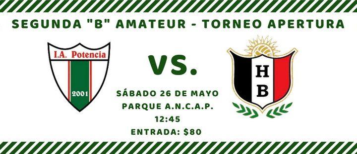 24.05.2018 Este sábado el rival será Huracán Buceo por la tercera fecha del Apertura