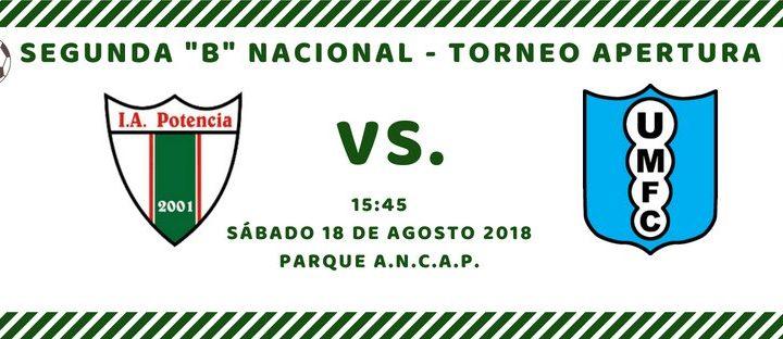 17.08.2018 Potencia jugará mañana ante Uruguay Montevideo por la fecha N°12 del Apertura
