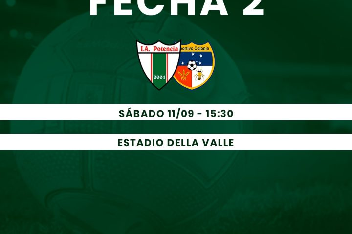 10.09.2021 Potencia recibirá a Deportivo Colonia mañana.