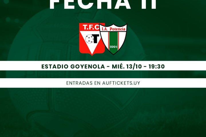 12.10.2021 Potencia visitará a Tacuarembó en el Estadio Goyenola.